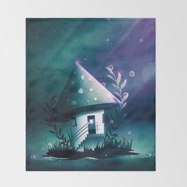 Magic Mush Room Throw Blanket