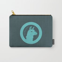 Teal-Blue Llama Carry-All Pouch