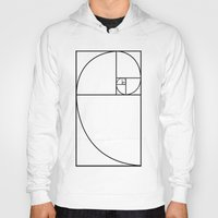 fibonacci Hoodies featuring fibonacci spiral by nyealexanda