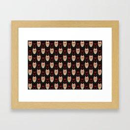 """Japanese Fox Mask """"Good and Evil"""" 2 Framed Art Print"""