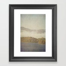 Fog and Color Framed Art Print