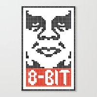 8 bit Canvas Prints featuring 8-Bit by tshirtsz