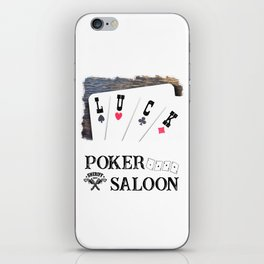Welcome to the Poker Saloon iPhone Skin