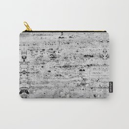 grey granite stone rustic ambient decor Carry-All Pouch