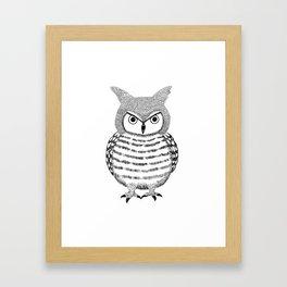Tough Love Owl Framed Art Print