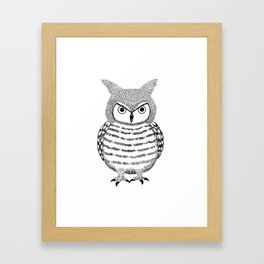 Tough Love Owl Framed Art Print