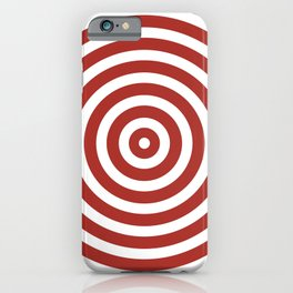 Circles (Maroon & White Pattern) iPhone Case