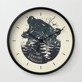 Craving wanderlust II Wall Clock
