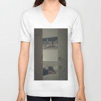 sleeping beauty V-neck T-shirts featuring sleeping beauty by crisismasiva