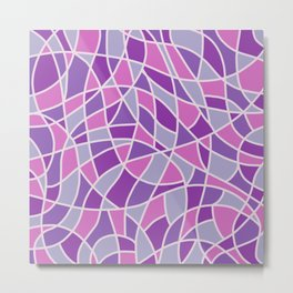 Curved Mosaic 04 Metal Print