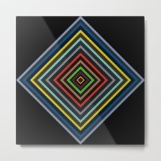 Colorful Geometric Pattern VI Metal Print
