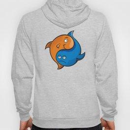 Yin Yang Fish Cartoon Hoody