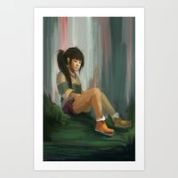 chihiro Art Prints featuring Realistic Chihiro by Jessica Smith