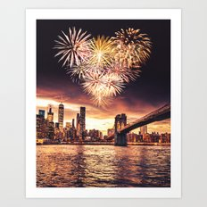love is in the air in new york Art Print