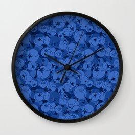 Berry Berry Blue Wall Clock