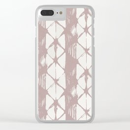 Simply Braided Chevron Clay Pink on Lunar Gray Clear iPhone Case