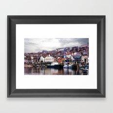 The Harbour Scarborough Framed Art Print