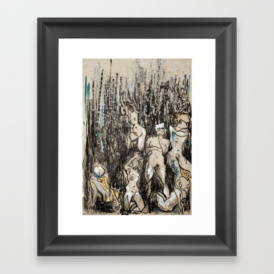 Where/and/Who Framed Art Print