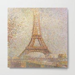 George Seurat's La Tour Eiffel Metal Print