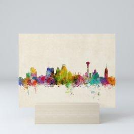 San Antonio Texas Skyline Cityscape Mini Art Print