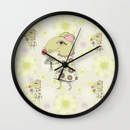 Mousie Mousie Wall Clock