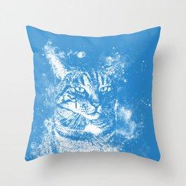 koko the cat wswb Throw Pillow