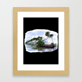 Kerala Canoes - 201 Framed Art Print