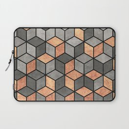 Concrete and Copper Cubes Laptop Sleeve