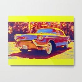 1951 Kaiser Dragon Coupe gradient neon coloring by Ahmet Asar, Asar Studios Metal Print