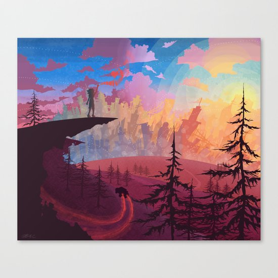 Let's Get Out Of This Country Canvas Print