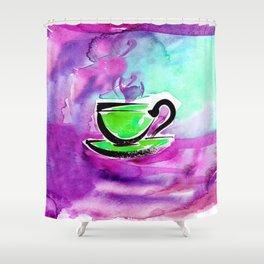Coffee Dreams 13c by Kathy Morton Stanion Shower Curtain