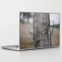 the wire Laptop & iPad Skins featuring wire  by Stephanie Dana