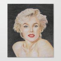 monroe Canvas Prints featuring Monroe by Kaileigh Gagnon