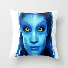 Angelina Jolie Avatar Throw Pillow