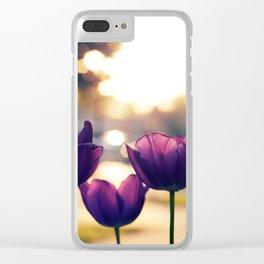 Sunrise Blooms Clear iPhone Case