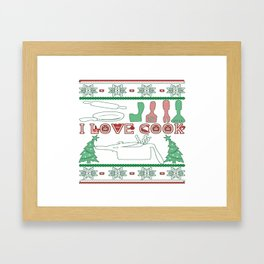 Cooking Christmas Framed Art Print