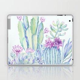 Mixed Cacti Light Blue #society6 #buyart Laptop & iPad Skin