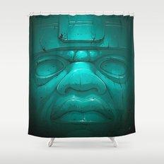 Olmeca III. Shower Curtain