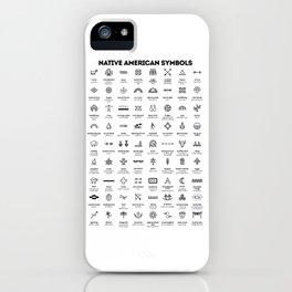 Native American Symbols iPhone Case