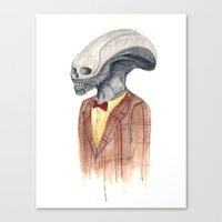 xenomorph Canvas Prints featuring Xenomorph by Monsters in Plaid
