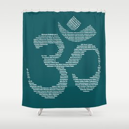 Yoga Every Damn Day Shower Curtain