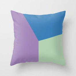 Color block #7 Throw Pillow