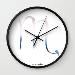 Scorpio Zodiac Symbol Wall Clock