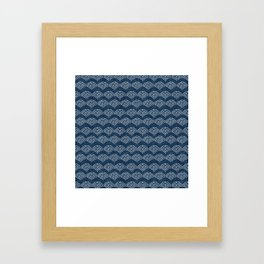 Wabi Sabi Arches in Blue Framed Art Print