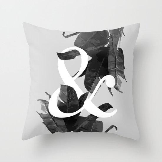 Botanical Ampersand Throw Pillow