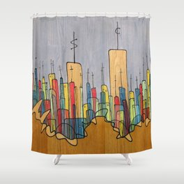 Dollars and Sense Shower Curtain