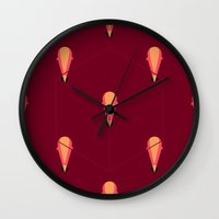 icecream Wall Clocks featuring icecream by burcuculcu