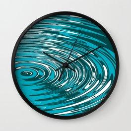 Digital Ripple Wall Clock
