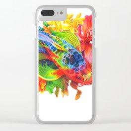 Rainbow Koi Clear iPhone Case