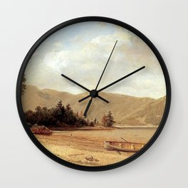 View Of Dresden Lake George 1874 By David Johnson | Reproduction | Romanticism Landscape Painter Wall Clock
